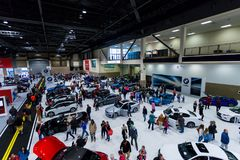 SEATTLE, WA - 12. NOVEMBER 2017: Seattle-International-Automobilausstellung Lizenzfreies Stockfoto