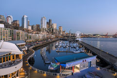Seattle, WA, USA - February, 17 2015.Waterfront is the most popular tourism attraction in Seattle, WA. Stock Photography
