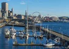 Seattle, WA, usa - Luty, 17 2015 Nabrzeże jest popularnym turystyki przyciąganiem w Seattle, WA Zdjęcie Stock