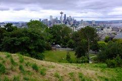 Seattle, Wahsington und Raum-Nadel stockbild