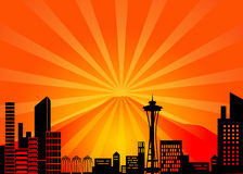 Seattle Washington City Skyline Royalty Free Stock Image