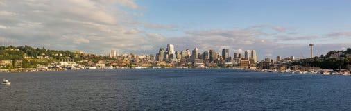 Seattle City Skyline along Lake Union Royalty Free Stock Photography
