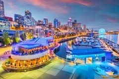 Seattle, Washington, de Pijler van de V.S. en Horizon stock afbeelding