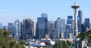 Seattle, Washington de stad in op een aardige dag 4K stock footage
