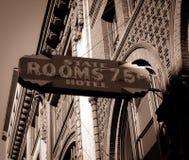 Seattle Washington foto av den historiska signagen för hotell Royaltyfri Foto