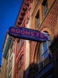 Seattle Washington foto av den historiska signagen för hotell Arkivbilder