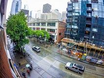Seattle Washington miasta ulicy i linia horyzontu Zdjęcia Royalty Free