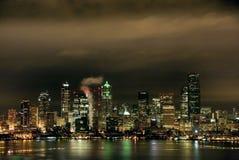 Seattle, Washington at Night. Royalty Free Stock Photos