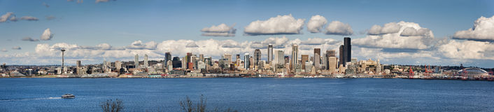 Seattle, Washington Panorama stock fotografie