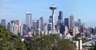Seattle Washington panorama & Mt. Rainier. Royalty Free Stock Images