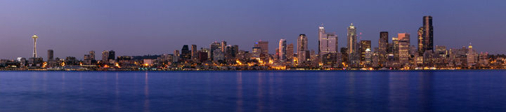 Seattle Washington Panoramic Royalty Free Stock Photos
