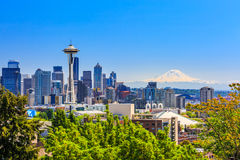 Seattle, Washington. Seattle skyline and mount Rainier