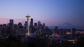 Seattle, Washington skyline at sunset Royalty Free Stock Photography