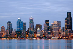Seattle Washington skyline at twilight Stock Photography