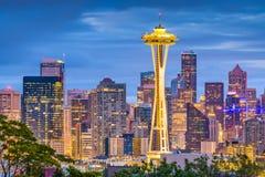Seattle Washington, USA horisont Arkivfoto