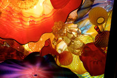 SEATTLE, WASHINGTON, USA - JAN 23rd, 2017: Persian Ceiling Exhibit by American Artist Dale Chihuly at Chihuly Glass and. Garden Museum Royalty Free Stock Image