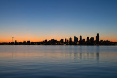 Seattle Washington Waterfront Skyline Sunrise Stock Photos