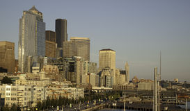 Seattle Waterfront. The waterfront district of Seattle, Washington Royalty Free Stock Image
