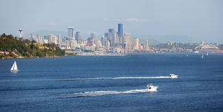 Seattle waterfront. Downtown Seattle waterfront on a sunny Spring afternoon Royalty Free Stock Image