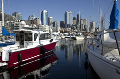 Seattle Waterfront boatyard Royalty Free Stock Photo