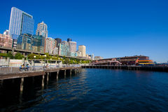 Seattle Waterfront City Skyline Stock Photography