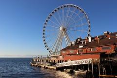 Seattle Waterfront. A ferris wheel on Seattle's waterfront Stock Photo