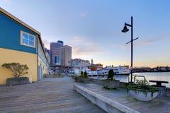 Seattle waterfront near aquarium Royalty Free Stock Image