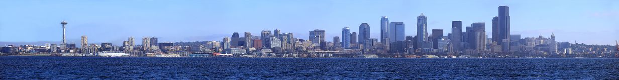 Seattle waterfront panorama. Royalty Free Stock Images