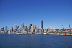 Seattle waterfront skyline Royalty Free Stock Photo