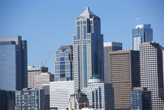 Seattle waterfront skyline, downtown Stock Photography