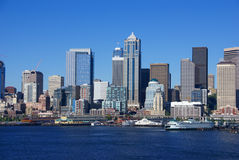 Seattle waterfront skyline, downtown Stock Photo