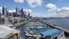Seattle waterfront spring 2017 Royalty Free Stock Photo