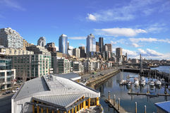 Seattle and waterfront view Royalty Free Stock Image