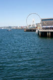Seattle waterfront. Views from Seattle Ferry Terminal Stock Photo