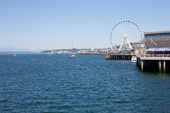 Seattle waterfront. Views from Seattle Ferry Terminal Royalty Free Stock Photo