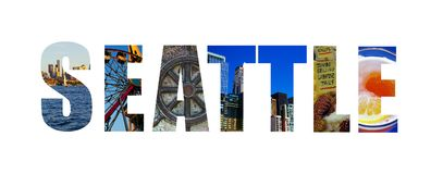 Seattle on white Royalty Free Stock Image