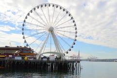 Seattle Wielki koło Fotografia Royalty Free