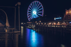 Seattle Wielki koło zdjęcie royalty free