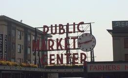 Seattle& x27 σημάδι θέσεων λούτσων του s Στοκ Φωτογραφίες