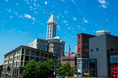 Seattles Smith Tower. Smith Tower Iconic Building in Seattles Skyline Stock Photos