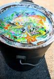 Seau abstrait de peinture en Virginie Photographie stock libre de droits