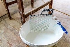 Seau blanc 01 de couleur photographie stock libre de droits