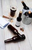 Seau de partie de bière Photographie stock libre de droits