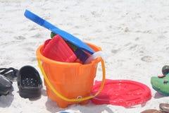Seau de sable Photographie stock