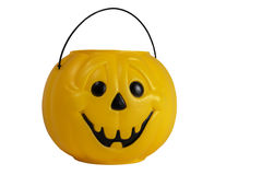 Seau de sucrerie de Halloween Images stock