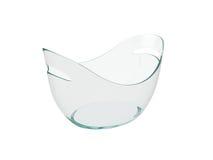 Seau en plastique ovale d'isolement sur le fond blanc, rendu 3D Images stock