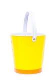Seau jaune photos stock