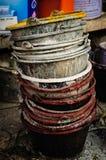 Seau pour le mélange de ciment Photo stock