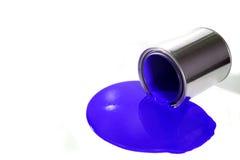 Seau renversé de peinture Photo stock