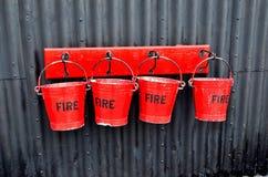 Seaux de feu Images stock